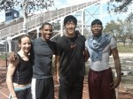 Outman '08 with Liu Xiang and IUP teammates