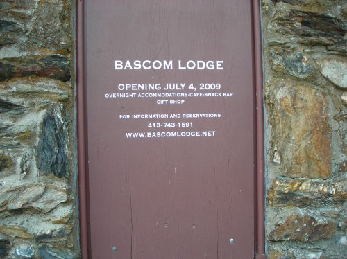 sign on Bascom Lodge