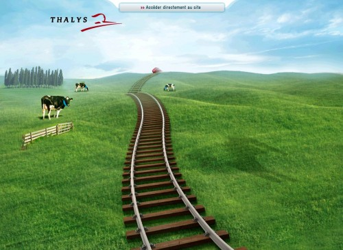 Thalys High Speed BRU-ZWE-AMS intros service via Purple Cows